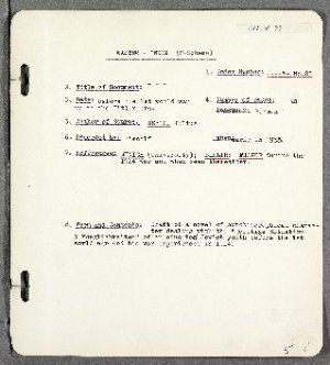 Draft of an autobiographical novel by Julius Meyer