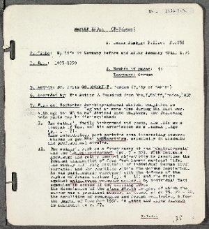 Eyewitness account by Fritz Goldschmidt entitled 'My Life in Germany before and after January 30th, 1933'